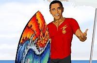 Obama op het Strand