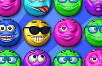 Springende Smileys