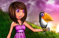 Menina de Aves