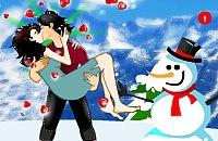 Kus Tijdens het Schaatsen