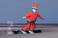 Kerstman snowboard 2