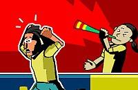 Speel nu het nieuwe voetbal spelletje Vuvuzela Schieten