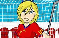 Speel nu het nieuwe voetbal spelletje Voetbalvrouw Aankleden