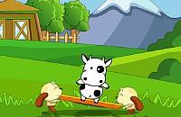 Springenden Kuh