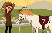 Paardrij Meisje Aankleden