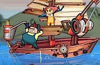 Verteidigen Fisch Boot