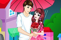 Regnerischen Valentinstag