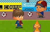 Speel nu het nieuwe voetbal spelletje Barca vs Bieber