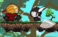 Kaninchen Kämpfen