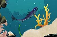 Azurblauen Fisch