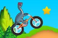 Dinosauro Acrobazie in Bicicletta