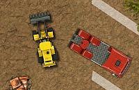 Schwere Fahrzeuge Parkplatz