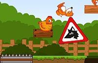 Speichern Sie die Hühner