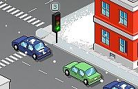 Inverno Traffico Poliziotto
