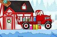 Weihnachtsmann Lieferwagen