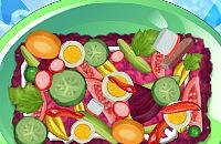 Salat mit Hering