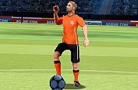 Speel nu het nieuwe voetbal spelletje Vrije Trap 2012