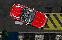 Roten Cabrio Parkplatz