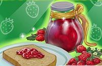 Süße Erdbeermarmelade