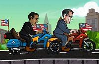 Obama en Romney Race