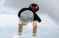 Pinguin op de slee