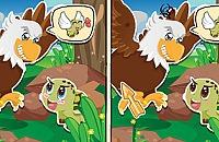 Die Schildkröte und Adler