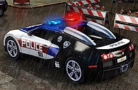 Politie Parkeerplaats 3D