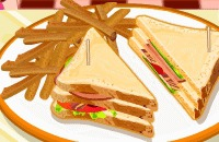 Speel het nieuwe spelletje: Club Sandwich Met Kalkoen