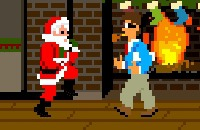 Speel het nieuwe spelletje: Kerstman Kungfu