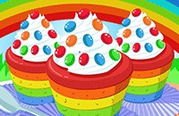 Cuisson De Rainbow Cupcakes