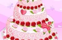Rose Hochzeitstorte