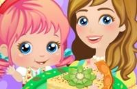 Bambino Alice: Mamma & Io Preparando Pie