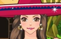 Menina Mexicana Maquilhagem