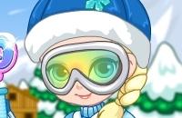 Bebê Elsa Esqui De Viagem