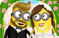 Minion-Mädchen-Hochzeitsfest