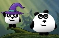 3 Pandas Dans La Fantaisie