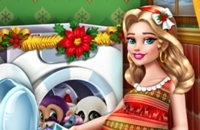Mommy Washing Christmas Toys