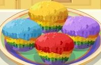 Saras Kochunterricht Regenbogen-kleine Kuchen
