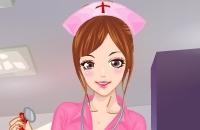 Schöne Krankenschwester