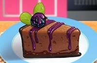 De Sara Clase De Cocina: Chocolate Blackberry Pastel De Queso