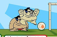 Speel nu het nieuwe voetbal spelletje Sumo Sushi Voetbal