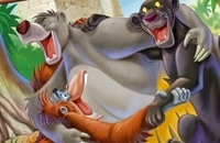 Jungle Book Online Färbung Seite