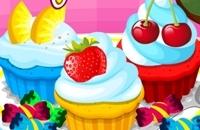 Cozinhar Cupcakes Coloridos