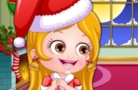 Bebé Hazel Viste A La Navidad