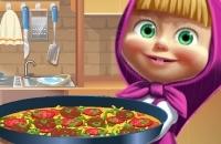 Masha Cozinhar Tortilla Pizza