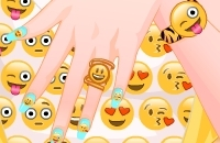 Barbie Emoji Nails Designer