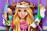 Blonde Prinzessin Krankenhaus Erholung