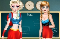 Elsa And Anna Highschool Fashion