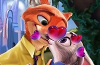 Judy En Nick Kissing