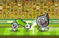 Speel nu het nieuwe voetbal spelletje Puppet Soccer Zoo